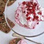 (Fermented) Probiotic raspberry kefir cream cheese spread can be easily made at home using real milk kefir grains.
