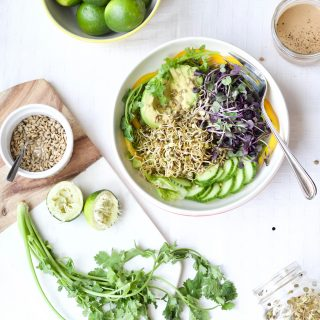 Sprouted Salad + Tahini Lime Dressing