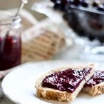 "Raw grape jelly is a great alternative to cooked ones preserving many of the heat-sensitive antioxidants and enzymes, let alone how much easier it is to whip up a batch. To be honest, I never have pectin stored in the pantry, so these chia seeds are life-savers on days I run out of jam. They thicken up fruit puree in no time while no cooking is required at all. I nicknamed the recipe ""instant jam"" owing to the fact that I made this raw chia Concord grape jelly in under 5 minutes."