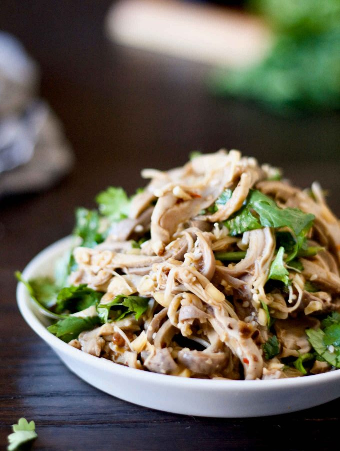 If you are looking for ways to incorporate more nutrient-dense organ meats into your diet, the spicy Szechuan tripe salad is a must try! Full of flavours and kicks, spicy Szechuan tripe salad is a great way to introduce organ meats to the hesitant eaters. I used pork tripes in this recipe as you can see from the photos. Pork tripes are also called pig stomaches, or hog maw. You can also make this dish with beef tripes instead.