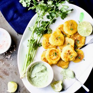 Tostones /w Garlic Cilantro Mayo + Give Away: Latin American Paleo Cooking