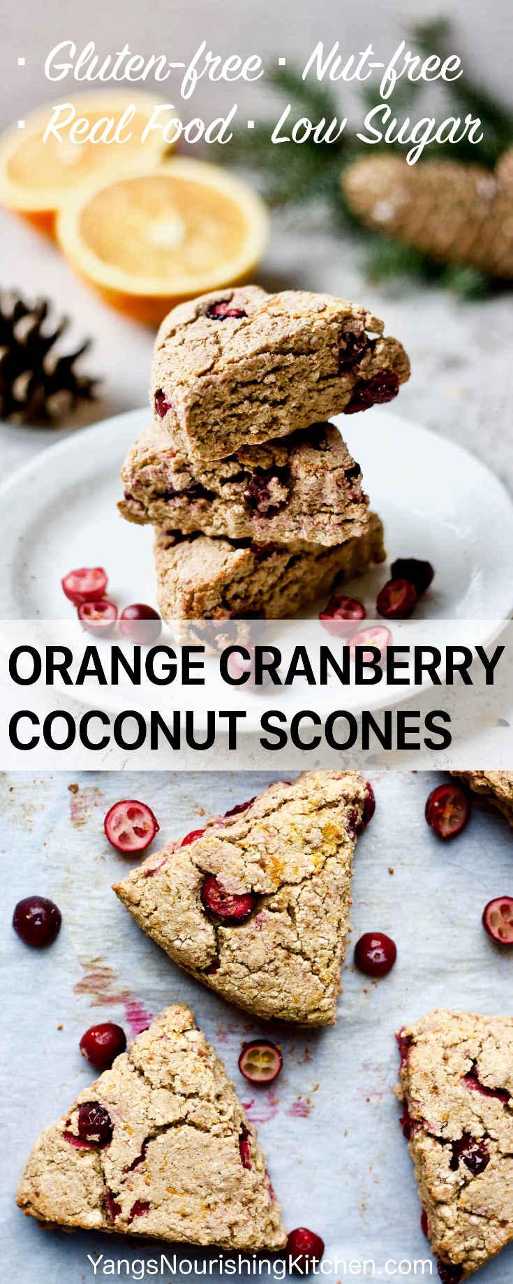 Gluten Free Orange Cranberry Coconut Scones