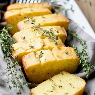 Kefir Fermented Honey Thyme Sourdough Cornbread