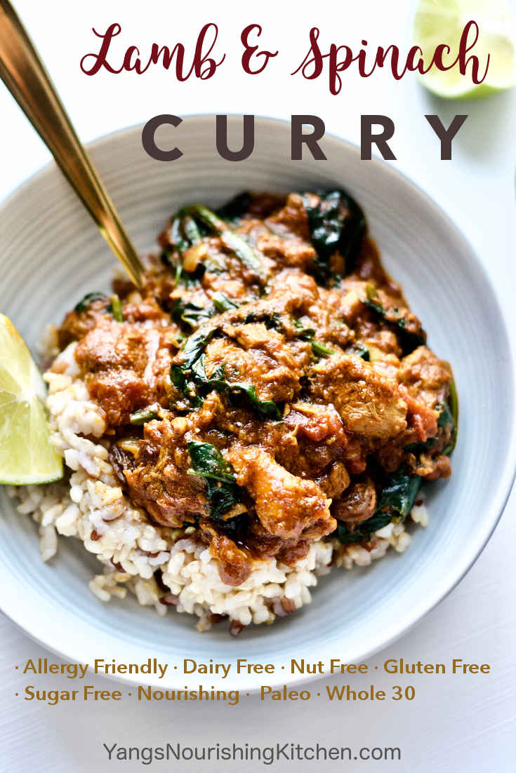Nourishing Lamb and Spinach Curry: Food for Winter