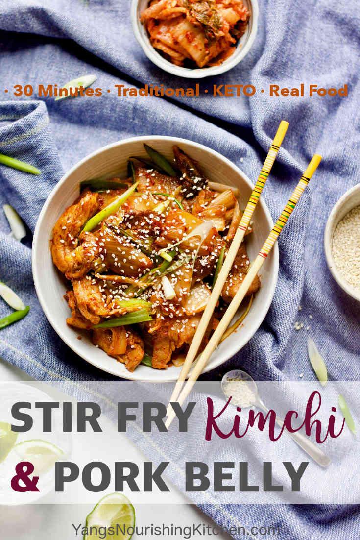 Easy Stir Fry Kimchi & Pork Belly