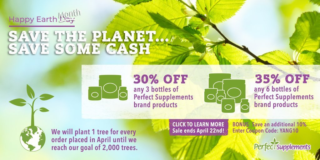 Perfect Supplements Earth Month Sale + my coupon code for additional 10% off