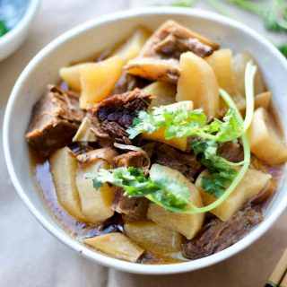 Instant Pot Beef Brisket Stew with Daikon Radish