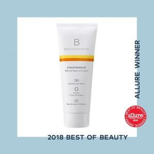 Beautycounter's countersun mineral sunscreen lotion is Allure's best of beauty winner 2018 in the organic/natural category.