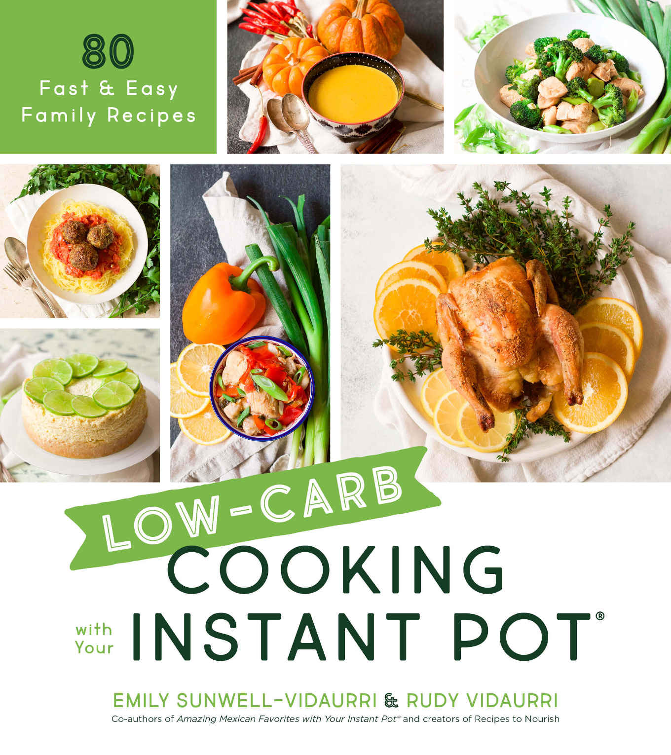 Book cover of low-carb cooking with your instant pot