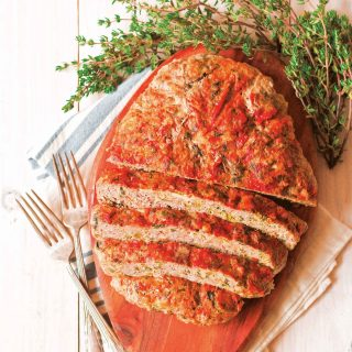 Cheesy Veggie-Stuffed Meatloaf + Giveaway: Low-Carb Cooking with Your Instant Pot