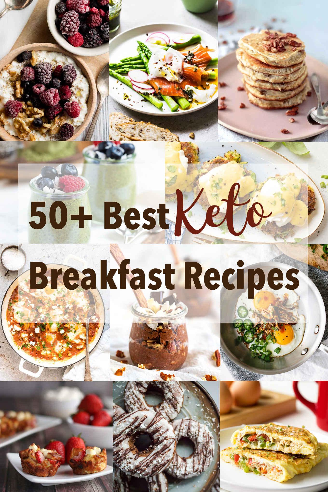 50+ best Keto breakfast recipes collage