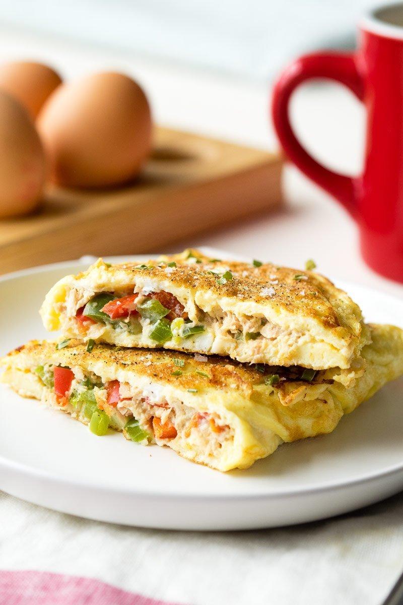 """""""Tuna Omelette"""" of best keto breakfast recipes"""