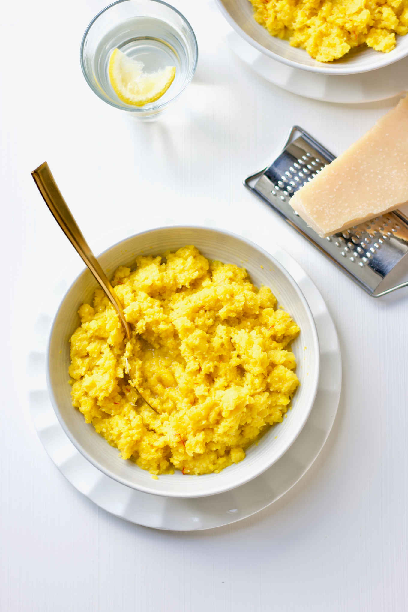 low-carb saffron cauliflower rice risotto