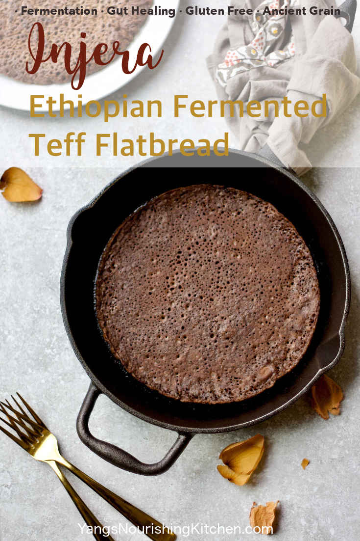 Injera (Fermented Ethiopian Teff Flatbread) {Video}