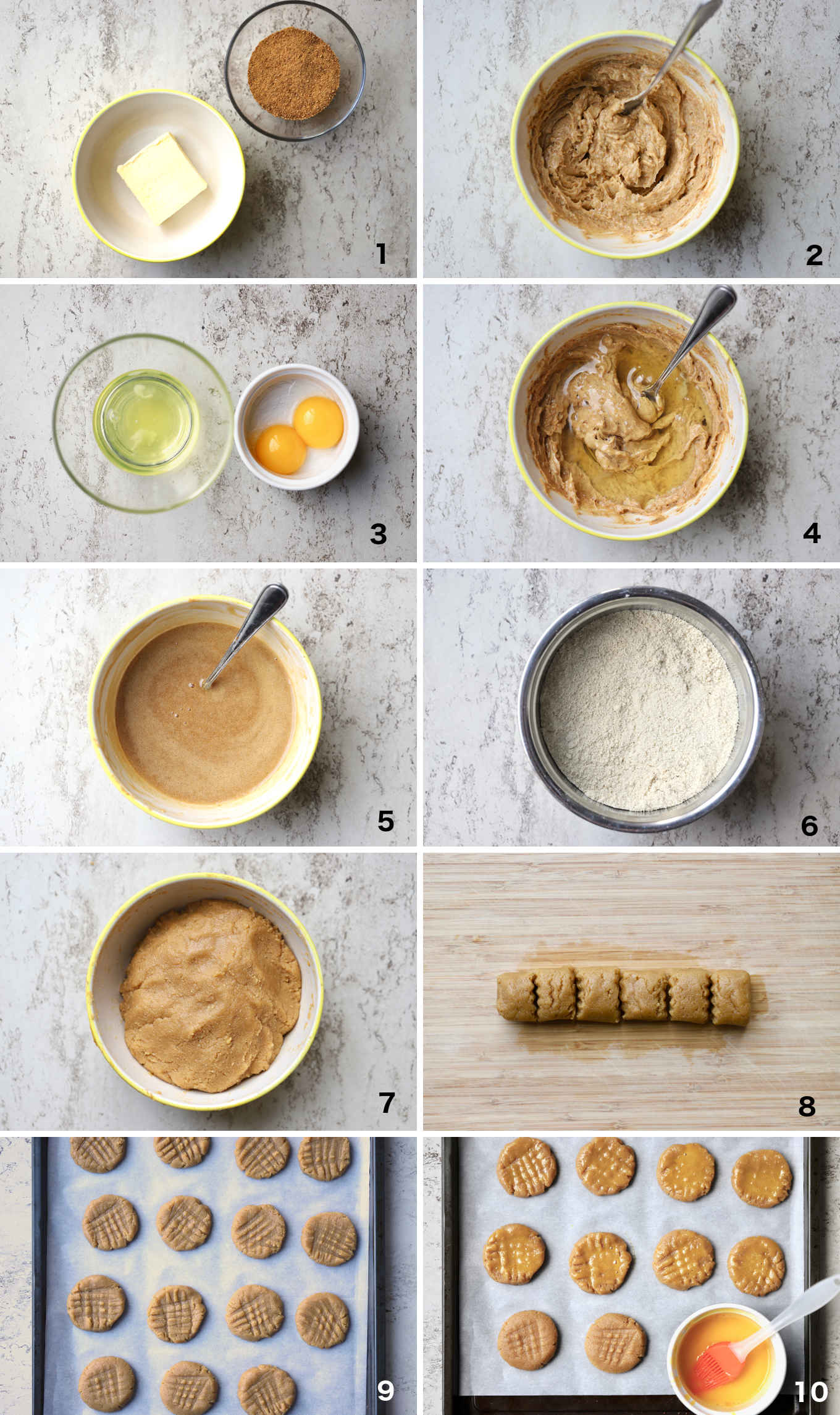 key preparation steps for making the sorghum almond cookies